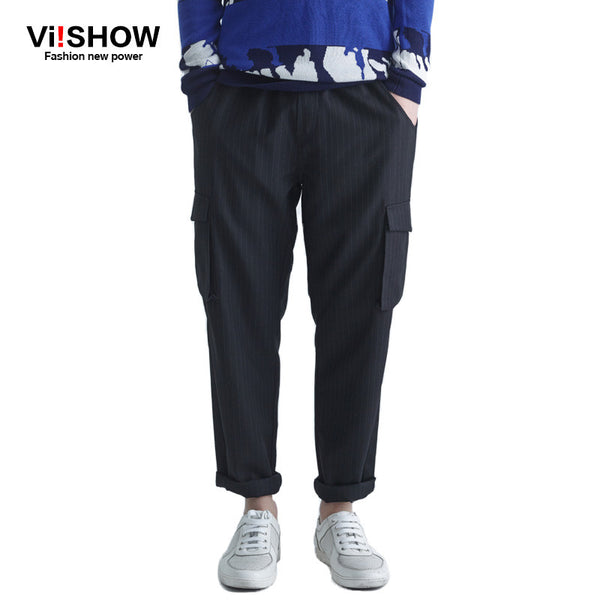 Viishow Men's Cargo Pants Casual Mens Pant Multi Pocket Military Overall Men Outdoors High Quality Long Trousers Plus size