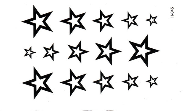 3D  New Design Flash Tattoo Removable Waterproof  Man's Half Sleeve Arm star Temporary Totem Tattoo Stickers Body Art Tatoo DTZE