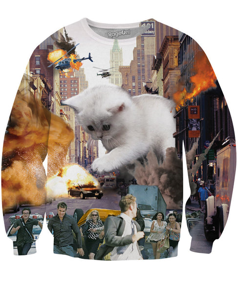Rampage Cat Crewneck Sweatshirt