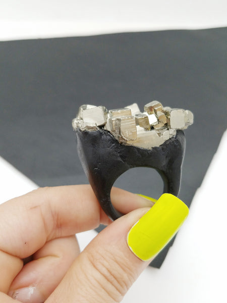 PYRITE: Size 9.5 Ring