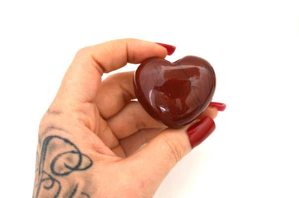 RED JASPER: Crystal Heart