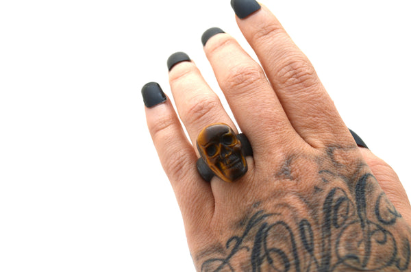 YELLOW TIGERS EYE: Size 5.5 Ring