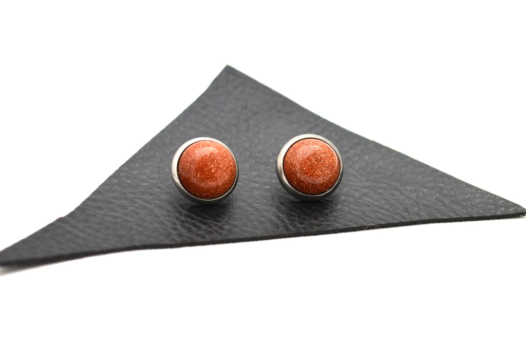 GOLDSTONE: 10mm Crystal Stud Earrings