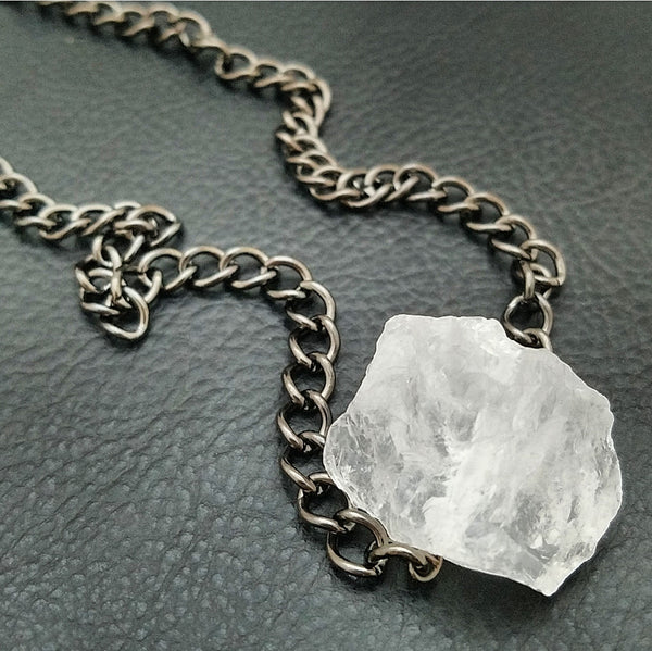 CLEAR QUARTZ: 2 in 1 Choker/Bracelet