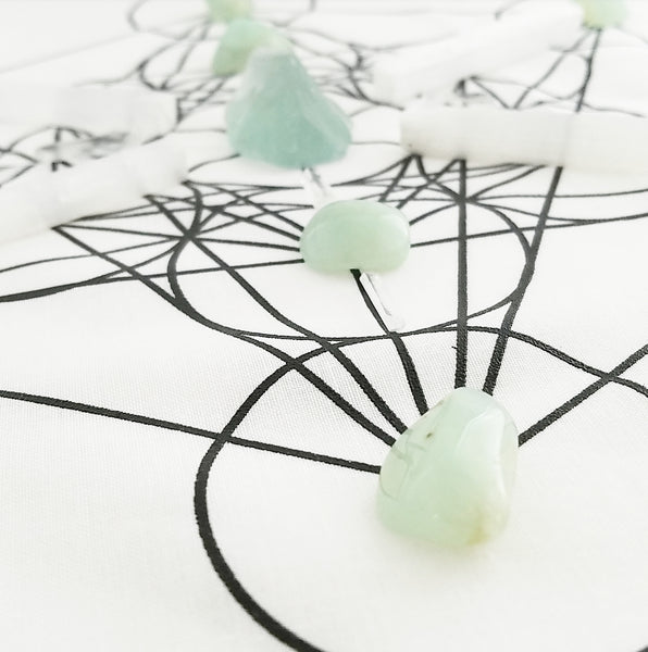 CRYSTAL GRID SET: Healing + Spiritual Connection