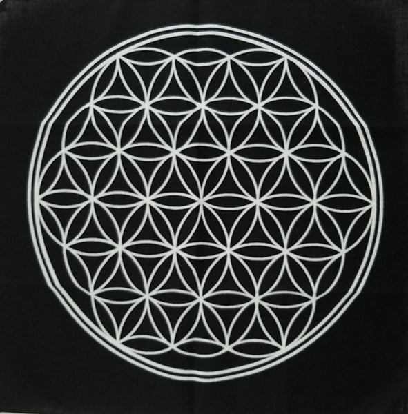 CRYSTAL GRID: Flower of Life  black or white