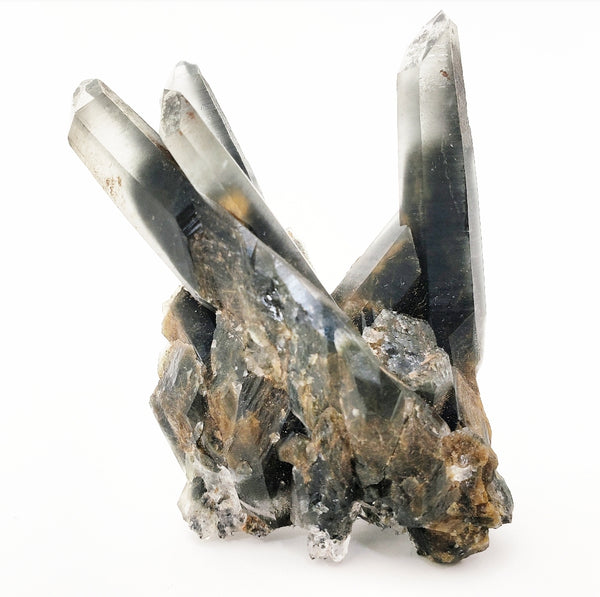 "Actinolite included ""Forest Quartz"" cluster"