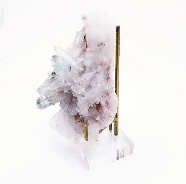 Ajoite in Quartz Cluster