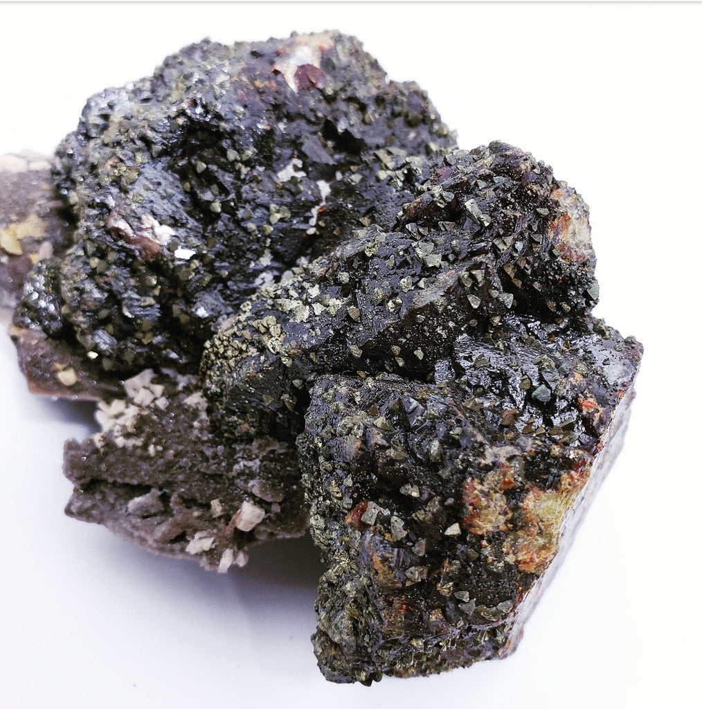 Epitaxic Chalcopyrite on Sphalerite, Sweetwater Mine