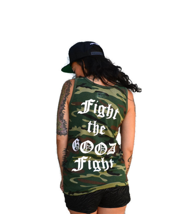 Sale! FIGHT THE GOOD FIGHT: unisex Camo Tank Top