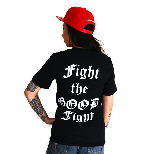 Sale! FIGHT THE GOOD FIGHT: unisex Black T-shirt