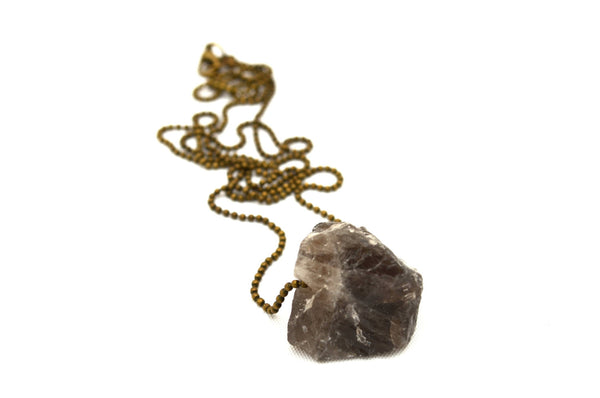 Sale!  SMOKEY QUARTZ: Rock Candy Necklace