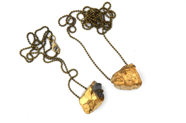 Sale! GOLD TITANIUM QUARTZ: Rock Candy Necklace