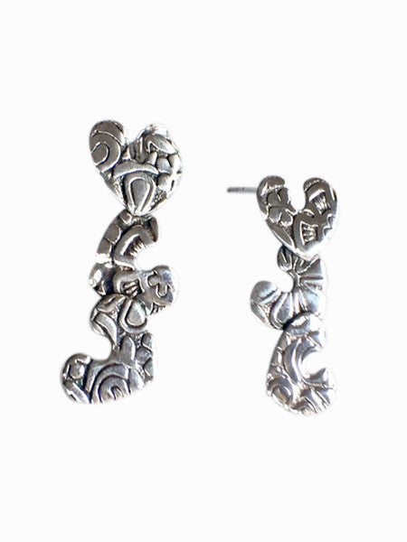 Triple Hearts Earrings