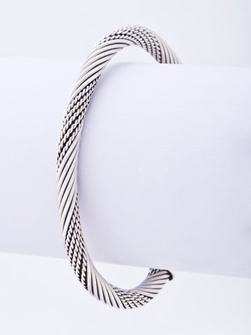 Mixed Lines Cuff Bangle