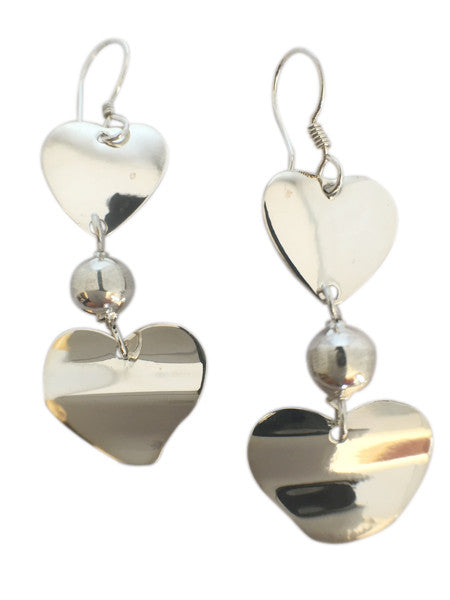 Double Hearts Earrings