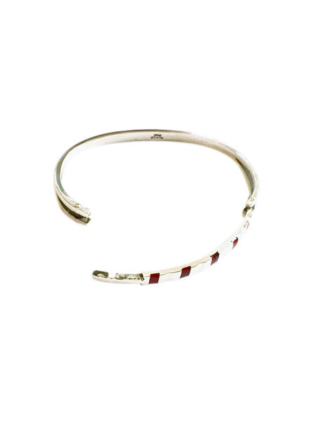 Bangle With Red Stone Inlays