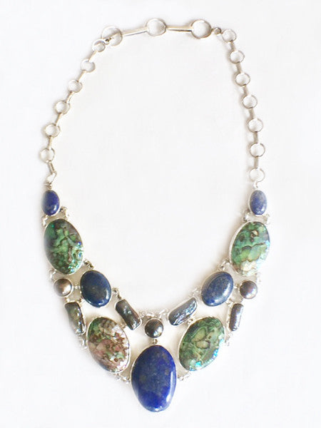 Abalone and Lapis Lazuli Necklace