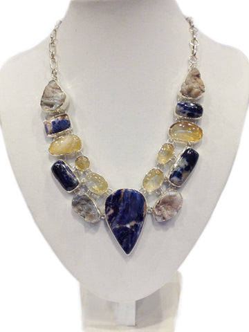 Sodalite, Druse Necklace