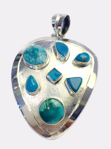 Irregular Pendant With Turquoise