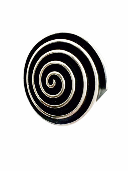 Oxidized Spiral Ring