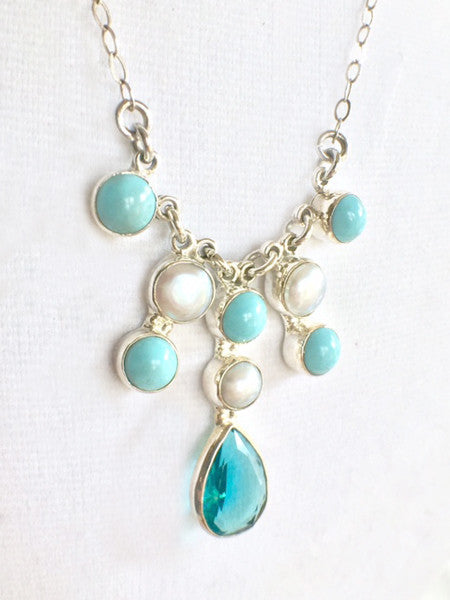 Pearls and Turquoise Necklace