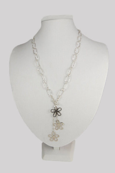 Flowers Lariat Necklace