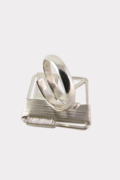 Silver Strings Ring