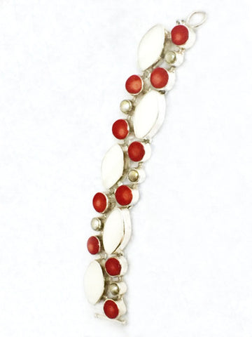 Coral and Pearl Bracelet