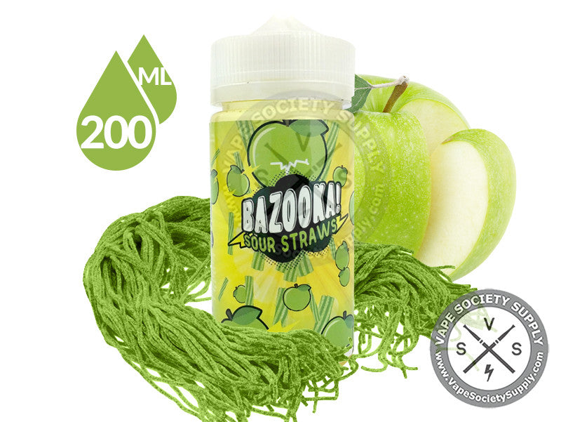 Apple Sour Straws by Bazooka Sour Straws 200ml