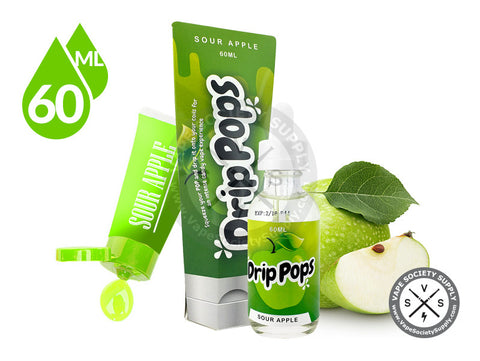 Sour Apple by Drip Pops E-Liquid 60ml