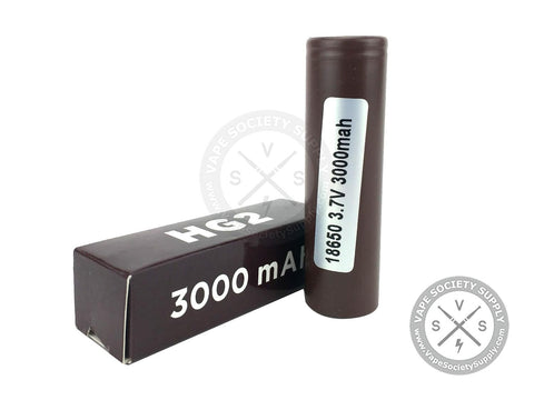 LG HG2 18650 LiMn 3000mAh 35A Flat Top Battery