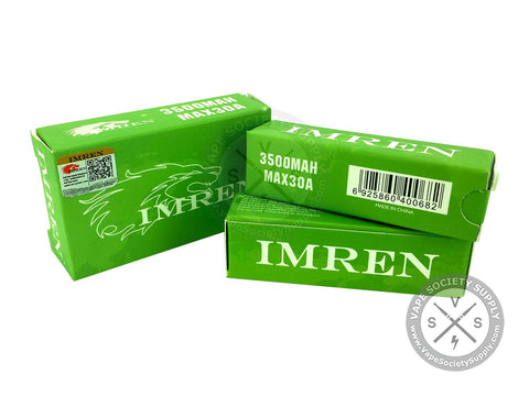 IMREN 18650 3.7V 3500mAh 30A Flat Top Battery