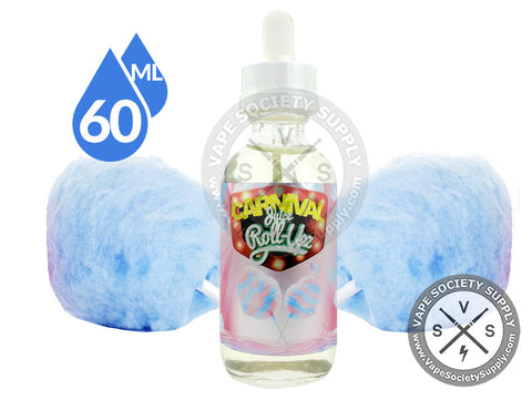 Blue Raspberry Cotton Candy by Carnival Juice Roll Upz 60ml