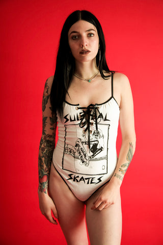 Lace-up Suicidal Skates Bodysuit