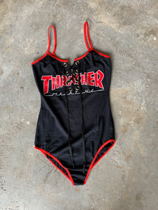 Lace-up Thrasher Outline Bodysuit Small/Medium