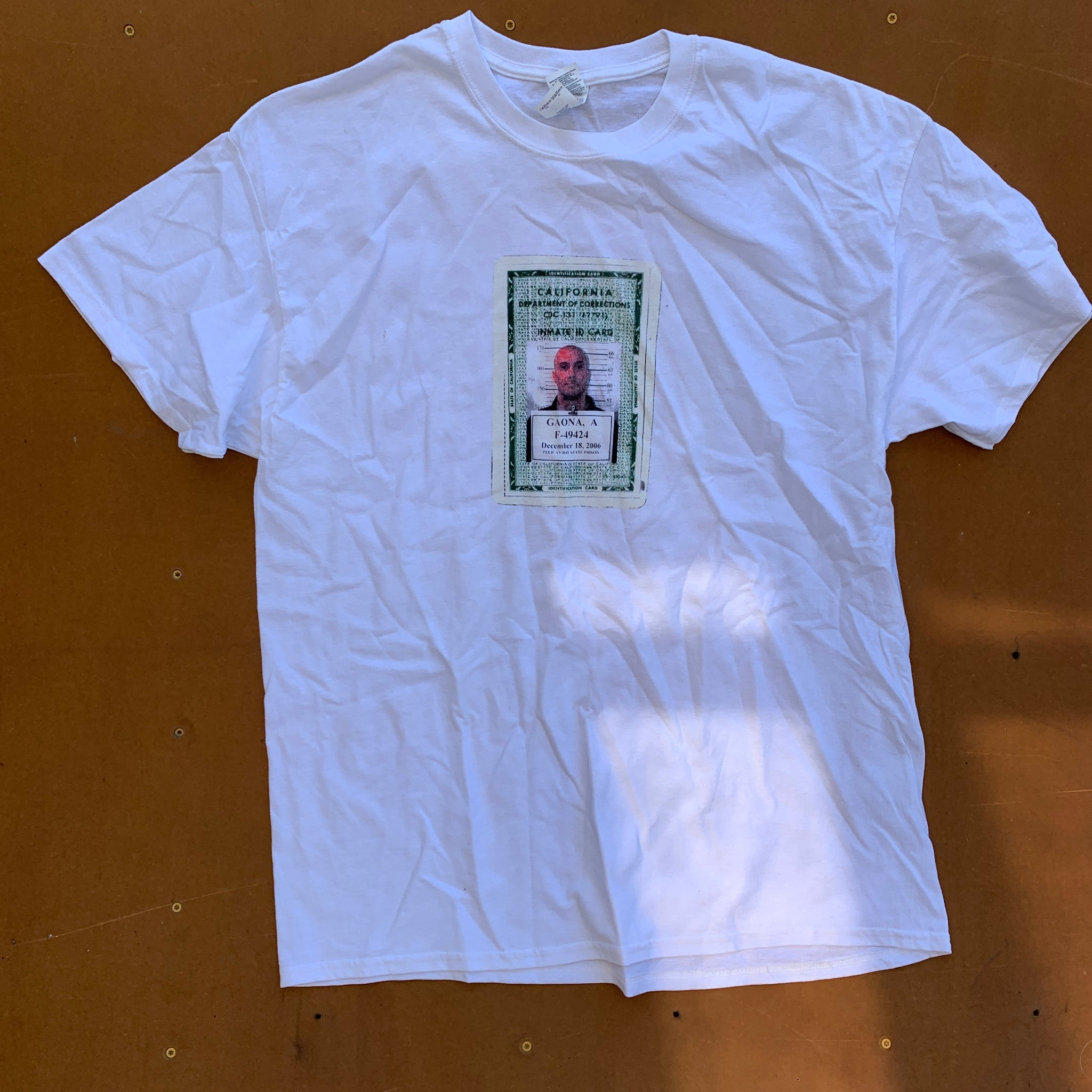 Andy Roy Prison ID Card T-Shirt (XL)