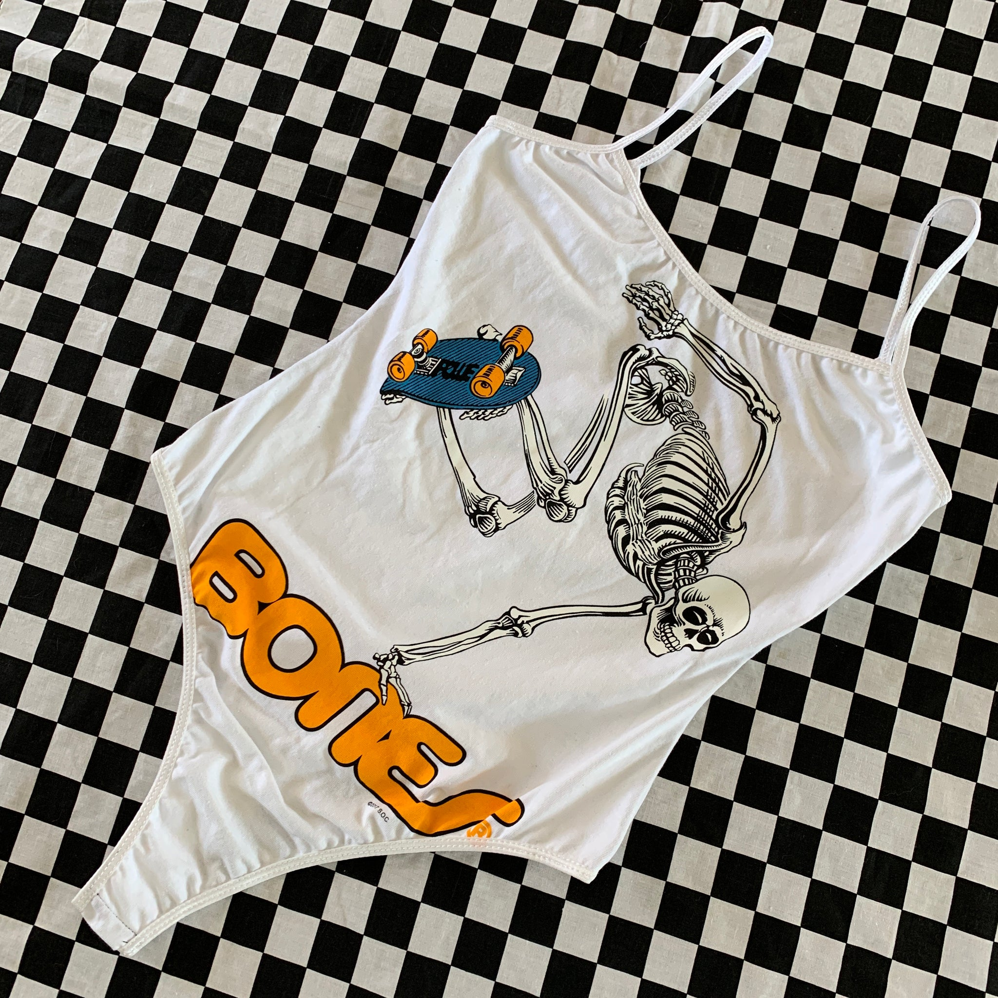 Skate Skeleton Bodysuit Small/Medium