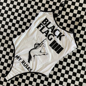 Black Flag My Rules Bodysuit