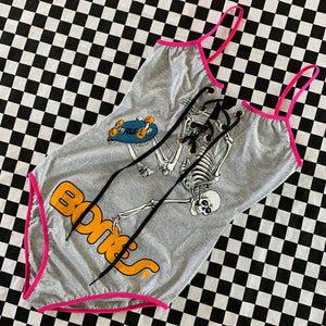 Lace-up Skate Skeleton Bodysuit Small/Medium