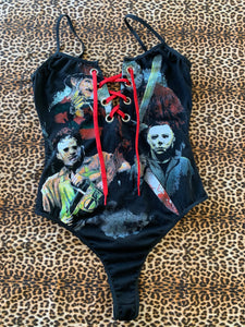 Lace-up Killers Bodysuit Small/Medium