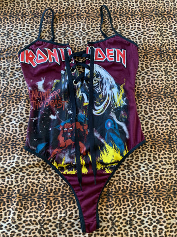 Lace-up Iron Maiden Bodysuit