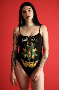 Lace-up Possessed to Skate Bodysuit