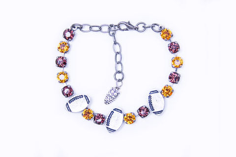 Swarovski Crystal Football Fanatics Bracelet