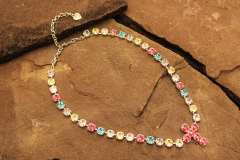 Swarovski Crystal Bubblegum Necklace