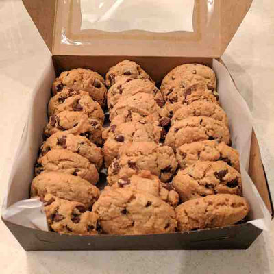 Open package of peanut butter chocolate chip cookies