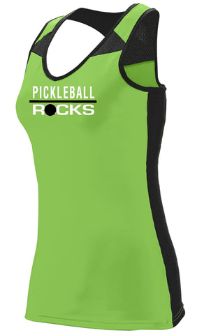 Lime Green Lady's Dri Fit Racer Back Tank