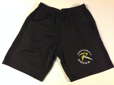Pickleball Rocks Black Mesh Shorts