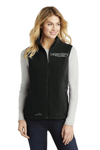 Legendary Womens Plush Eddie Bauer Model Vest - Black