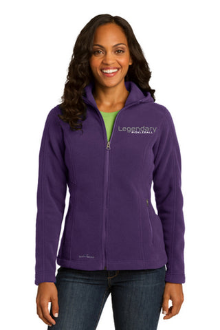 Legendary Womens Eddie Bauer Model Plush Hooded Hoodie Fleece Jacket - Blackberry